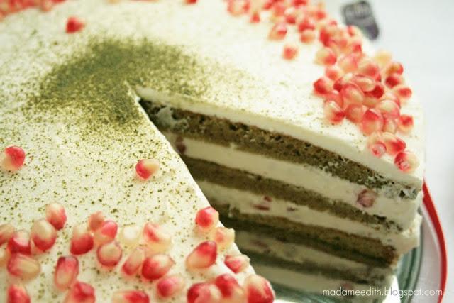 tort z zieloną herbatą