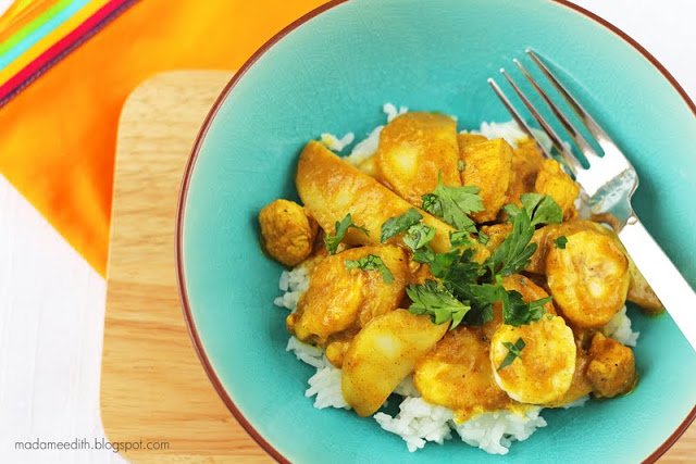 curry z bananem
