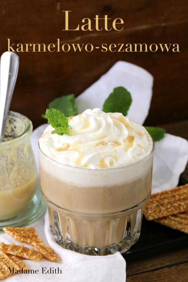 latte karmelowo sezamowa