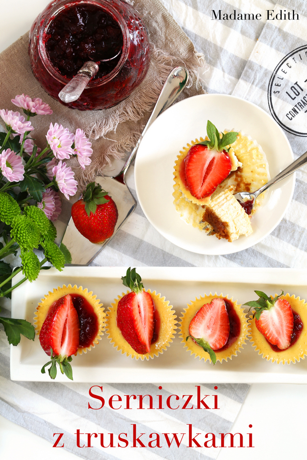 serniczki z truskawkami