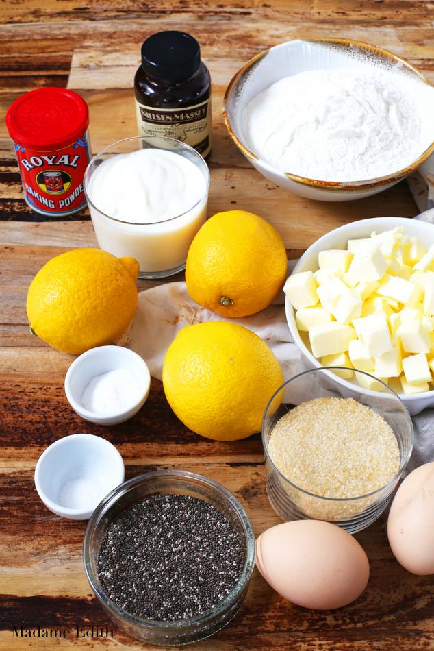 chlebek cytrynowy z chia