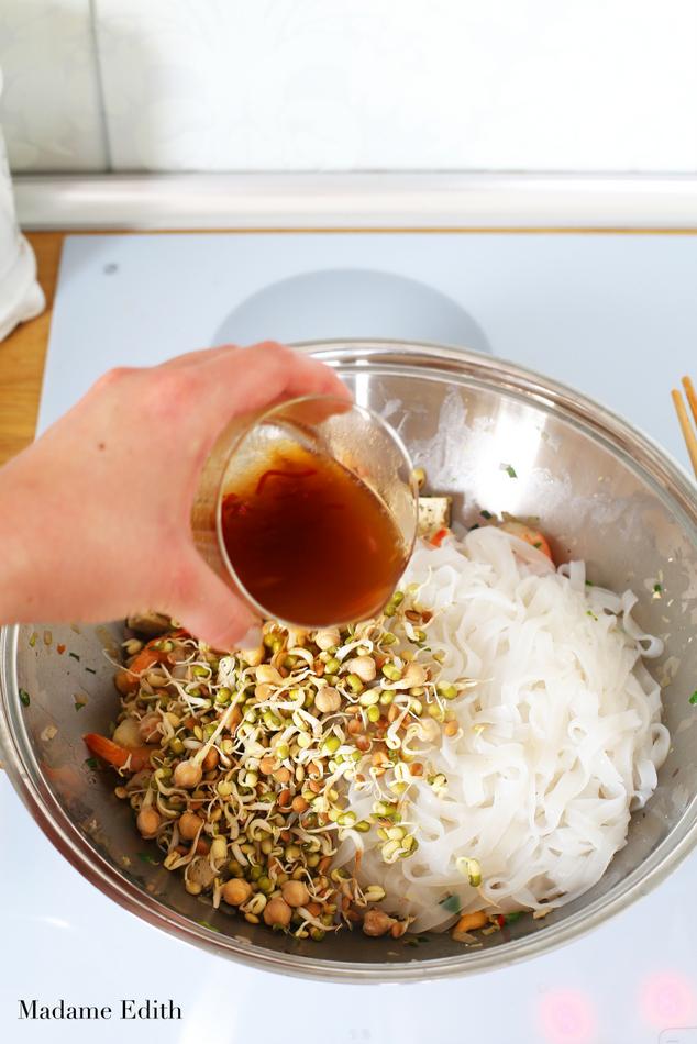 pad thai z krewetkami i tofu 4
