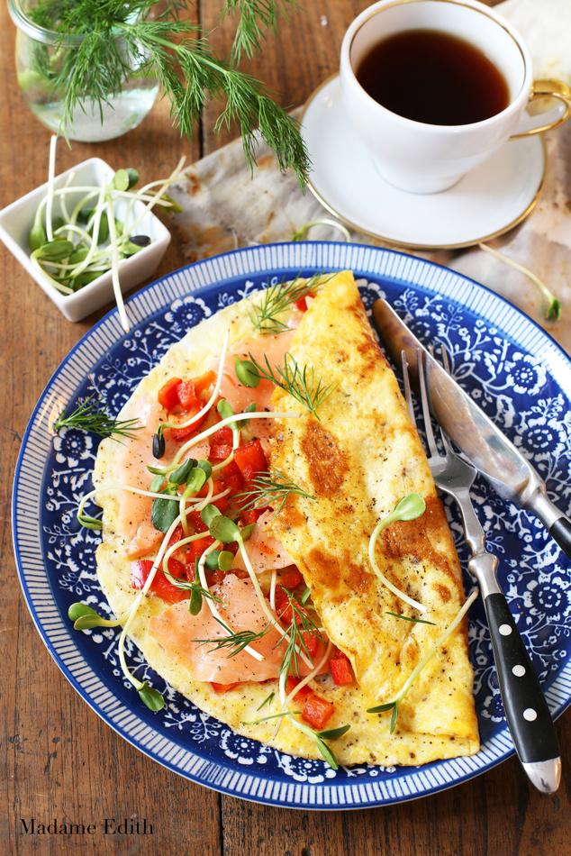 omlet z łososiem 4