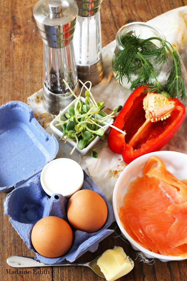 omlet z łososiem 1