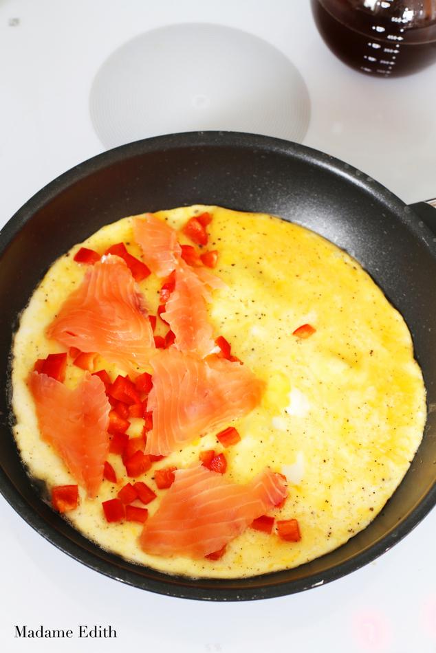 omlet z łososiem 6