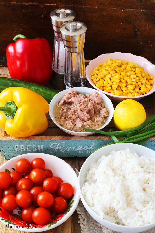 sałatka ryżowa z tuńczykiem 2