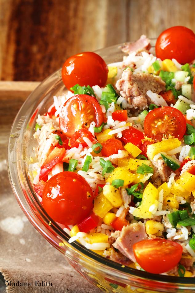 sałatka ryżowa z tuńczykiem 5