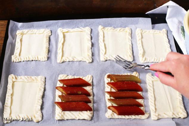 ciastka francuskie z rabarbarem 7