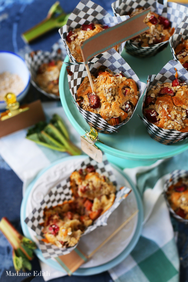 muffiny z rabarbarem owsiane 2