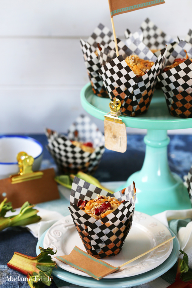 muffiny z rabarbarem owsiane 7