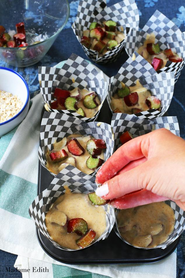 muffiny z rabarbarem owsiane 9