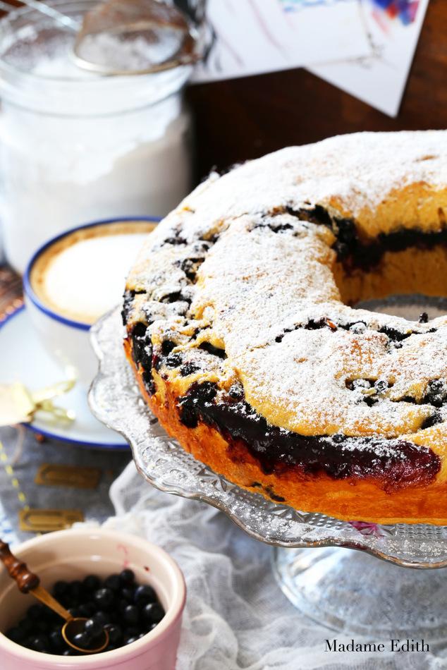 ciasto drozdzowe z jagodami 5