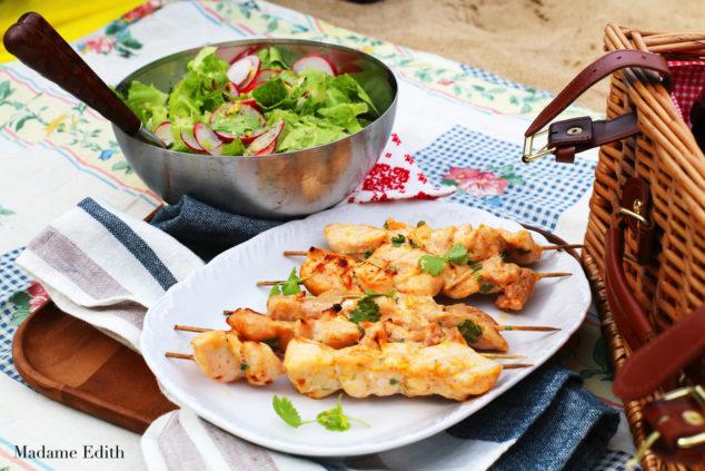 Szaszłyki z kurczaka w stylu azjatyckim