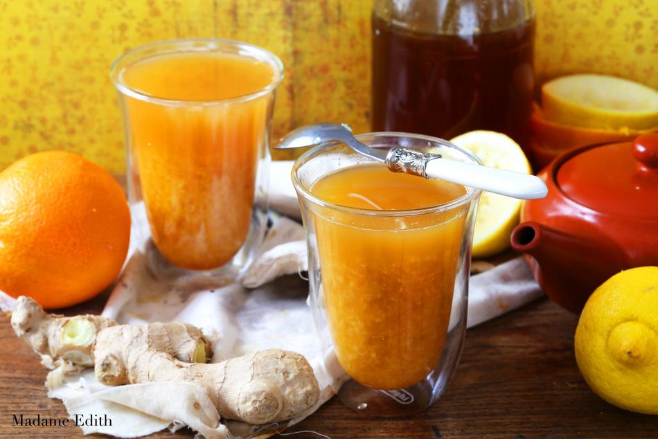 herbata pomarańczowa z imbirem