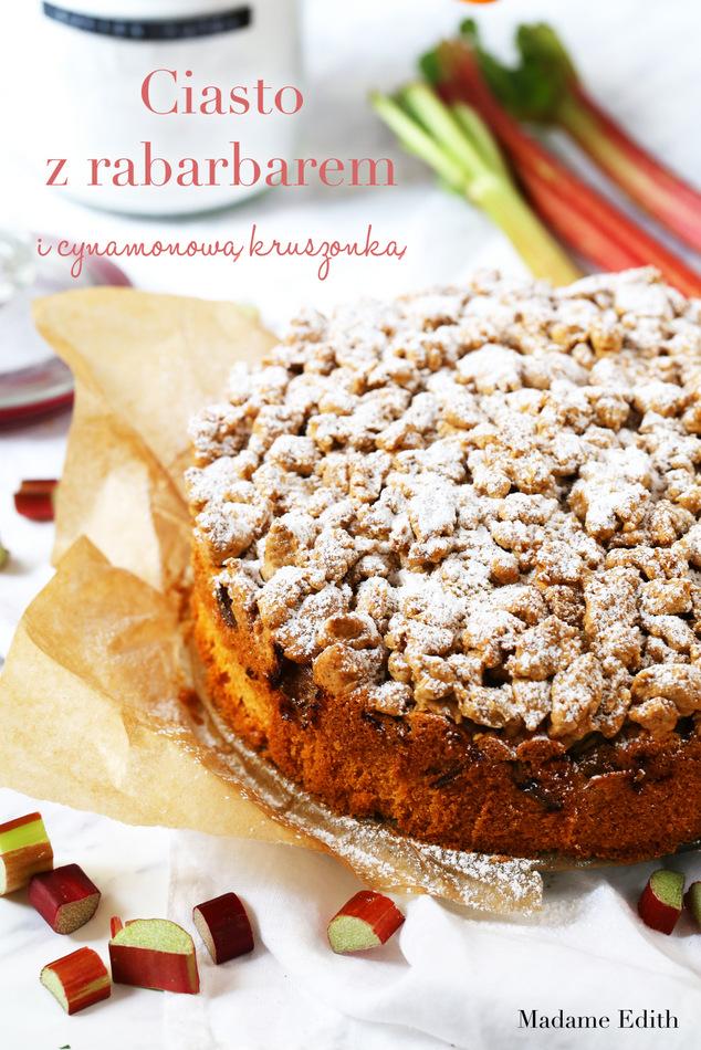 Ciasto z rabarbarem i kruszonką cynamonową
