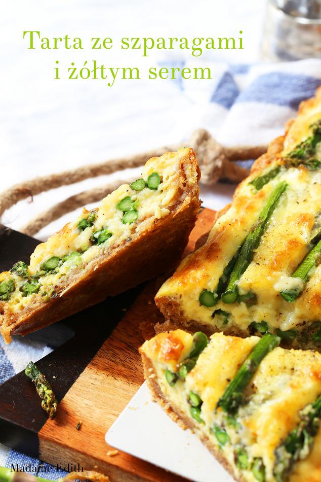 tarta ze szparagami i serem
