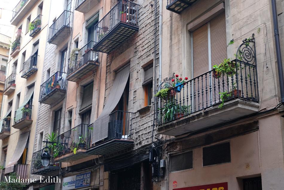 Balkony w barcelonie