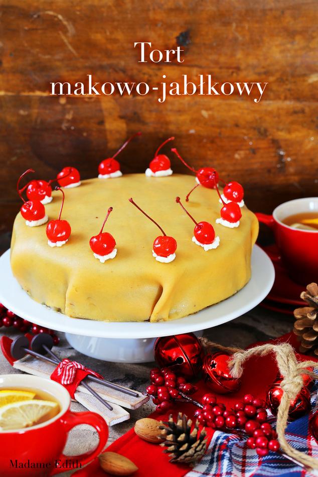tort makowo-jabłkowy