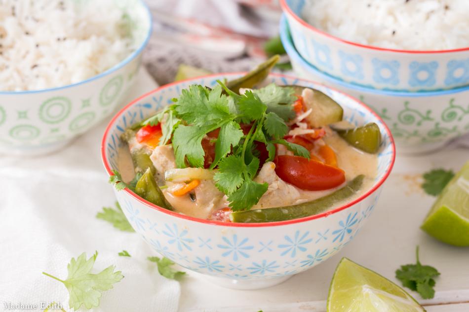 Zielone Curry Z Indykiem I Warzywami Szybki Obiad Dla Calej
