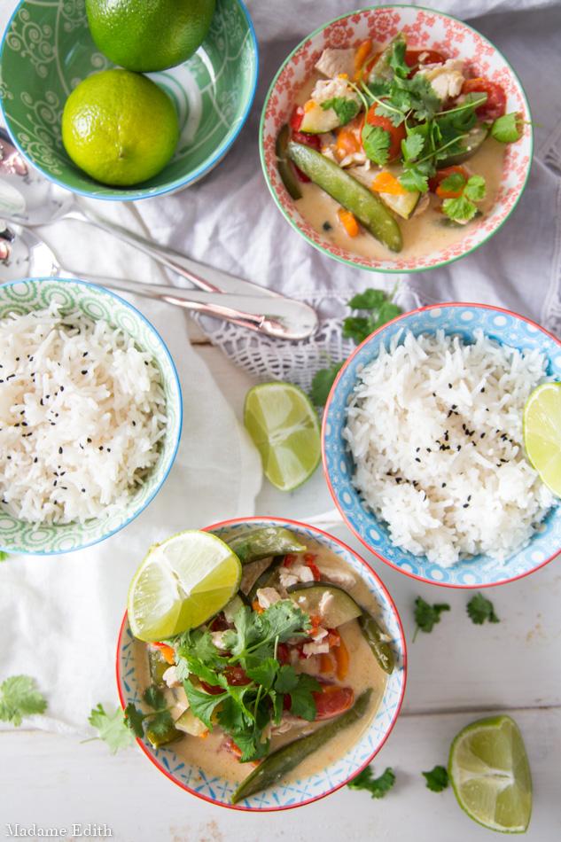 zielone curry z indykiem