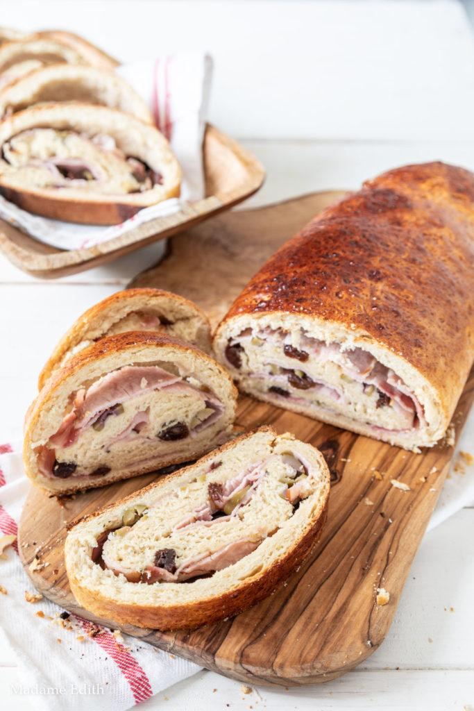 chleb z szynką