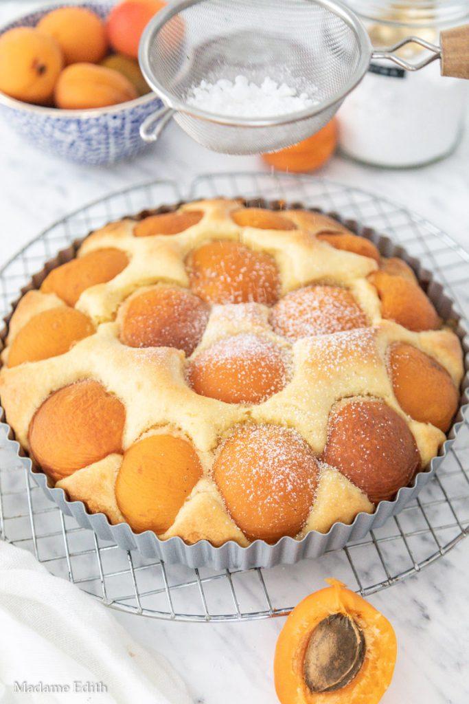 Ciasto serowe z morelami